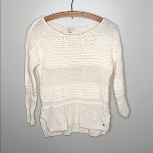 American Eagle Outfitters White Cream Sweater